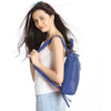 Navy Leather Backpack - R110