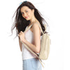 Ivory Leather Backpack - R110