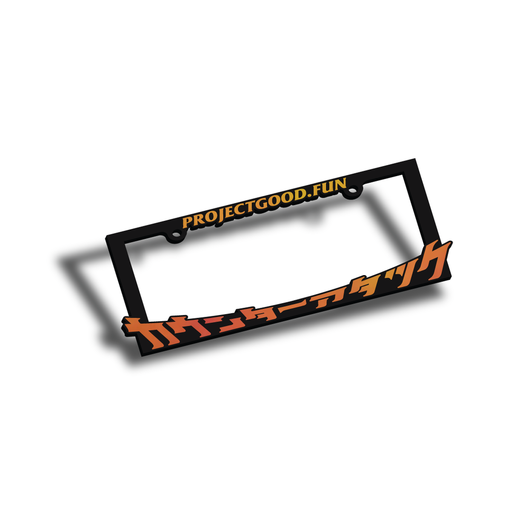Counter Attack License Plate Frame