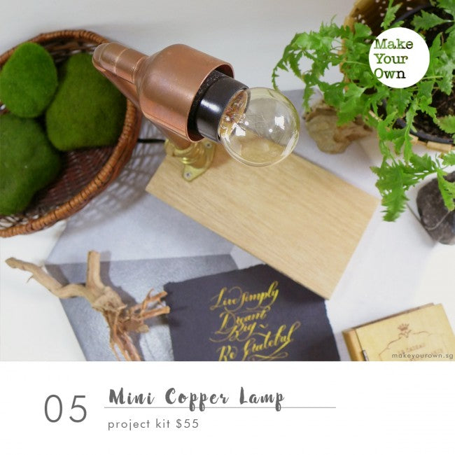 mini copper lamp workshop singapore