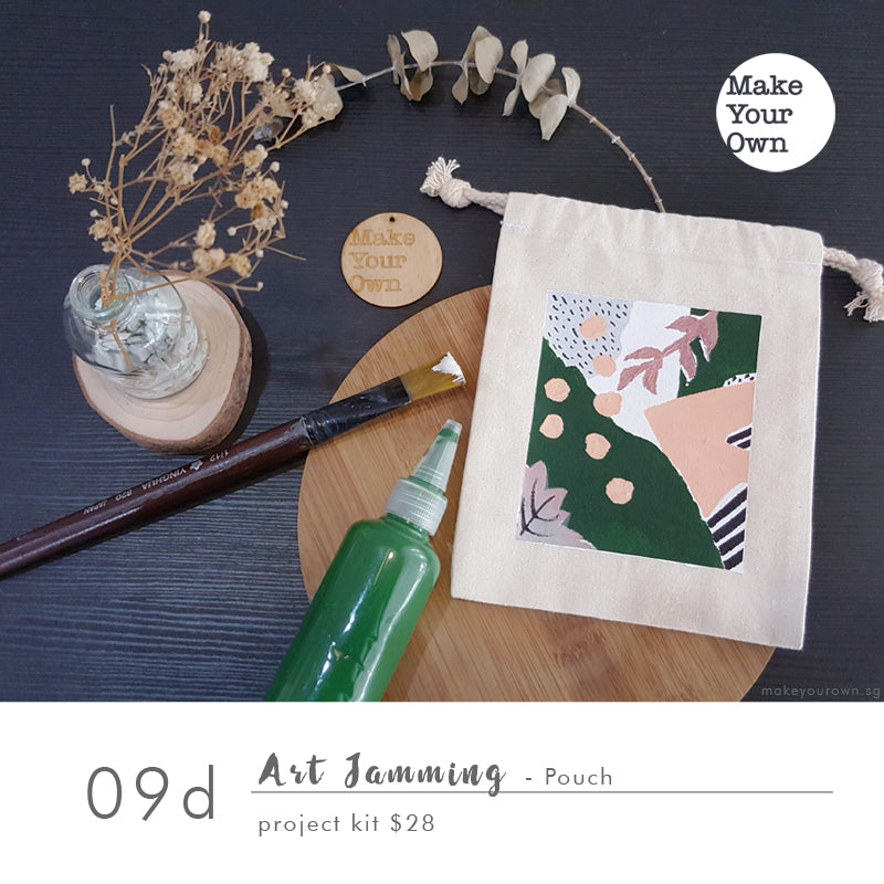 Art Jamming (Non guided) - Pouch Project Kit Workshop (appointment basis)