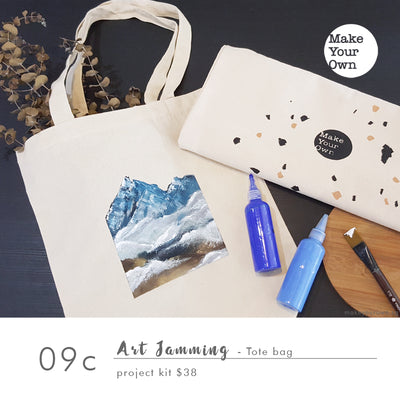 Art Jamming (Non guided) - Tote Bag Project Kit Workshop (appointment basis)