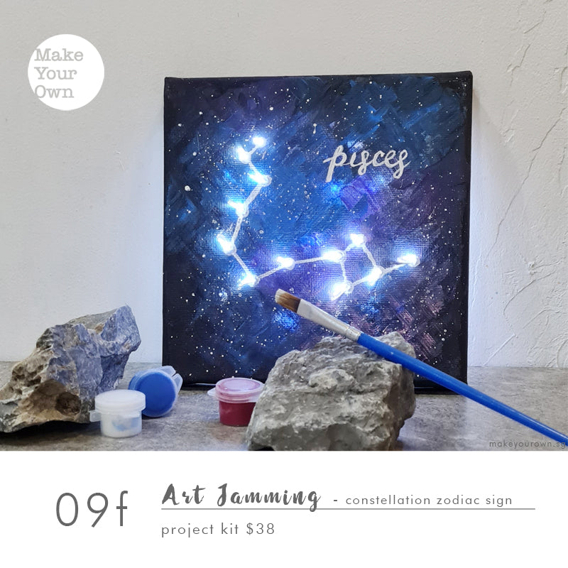 art jam workshop singapore constellation zodiac sign acrylic painting