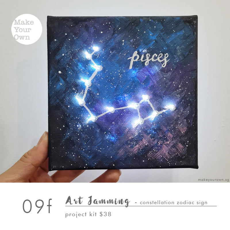 Art Jamming (Guided) - Constellation Zodiac Sign Project Kit Workshop (appointment basis)