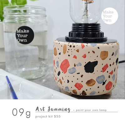 Art Jamming (Guided) - Paint Your Own Lamp Project Kit Workshop (appointment basis)