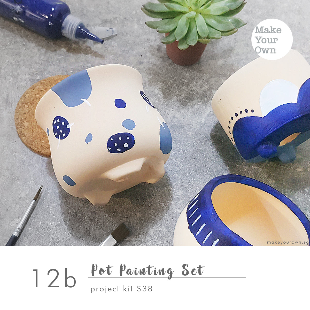 Pot Painting Set (Non-Guided) Project Kit Workshop (appointment basis)