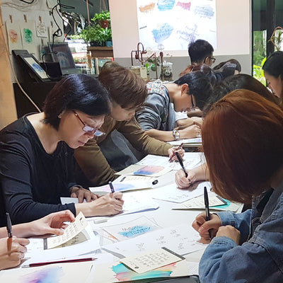 Corporate Basic Calligraphy Workshop - Watercolor Background with Calligraphy
