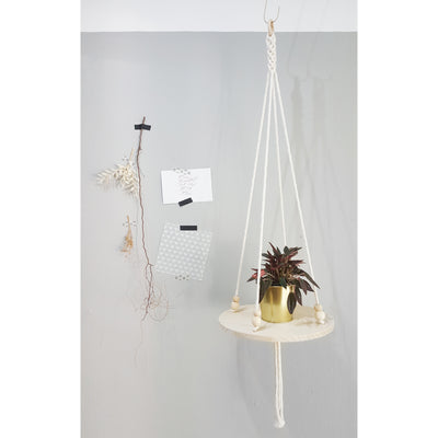macrame table shelf singapore