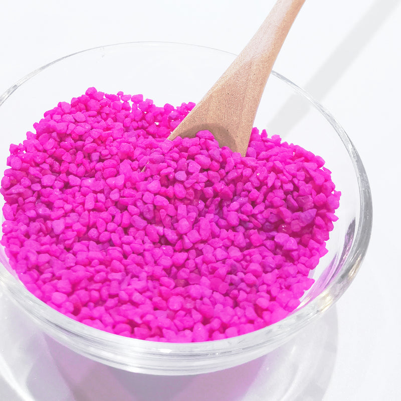 Bright Pink Colored Sand