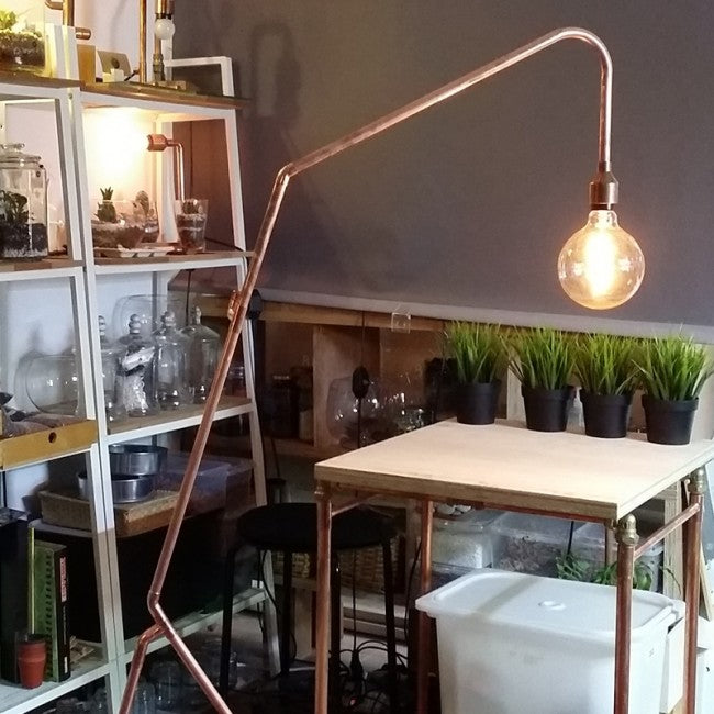 Industrial Style Copper Floor Lamp Workshop Singapore Diy
