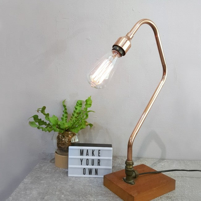 Industrial Style Copper Lamp Workshop Singapore