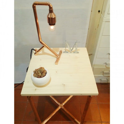 Industrial Style Copper Pipe Side Table Workshop Singapore