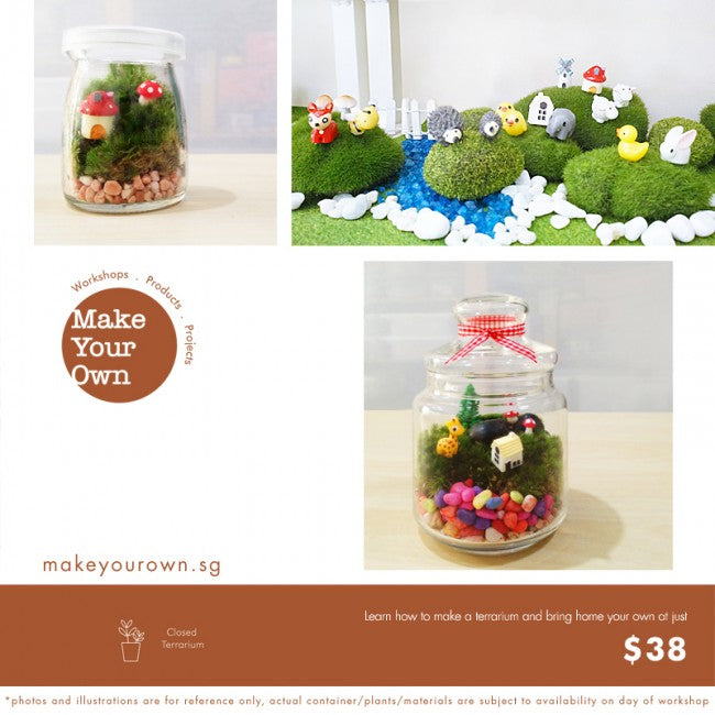 Kids Moss Terrarium Workshop Singapore