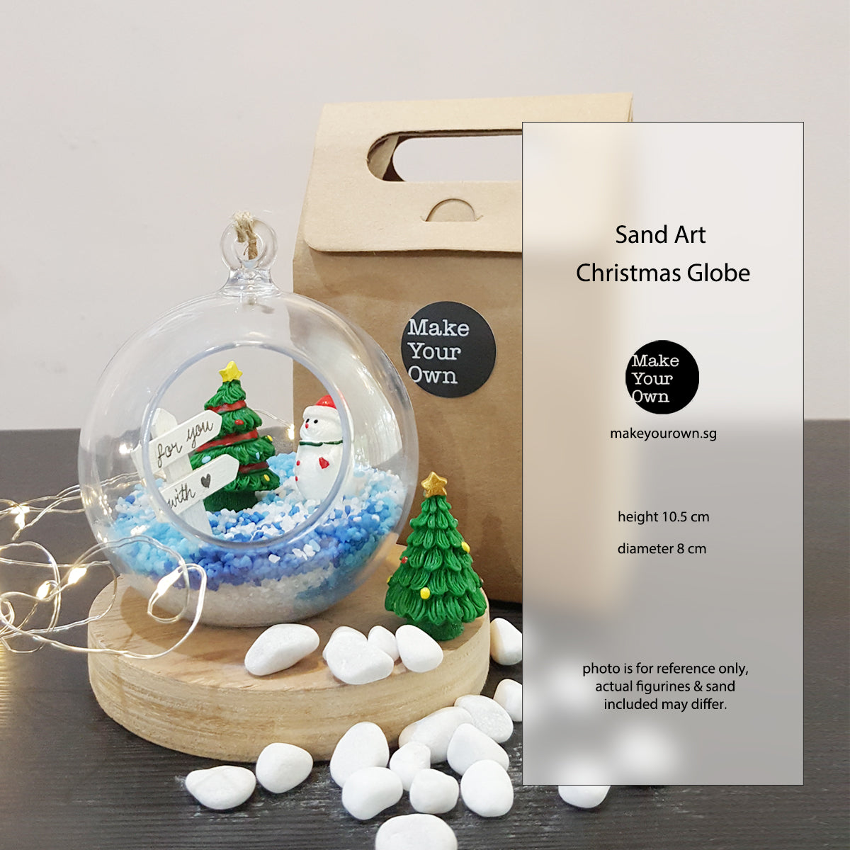 sand art christmas globe event diy kit virtual workshop singapore