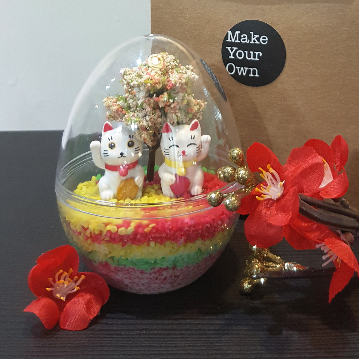 chinese new year fortune sand art mini egg virtual workshop