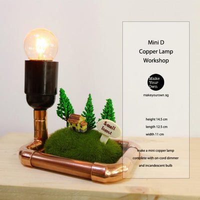 Virtual Zoom Corporate Mini D Copper Lamp Workshop Singapore