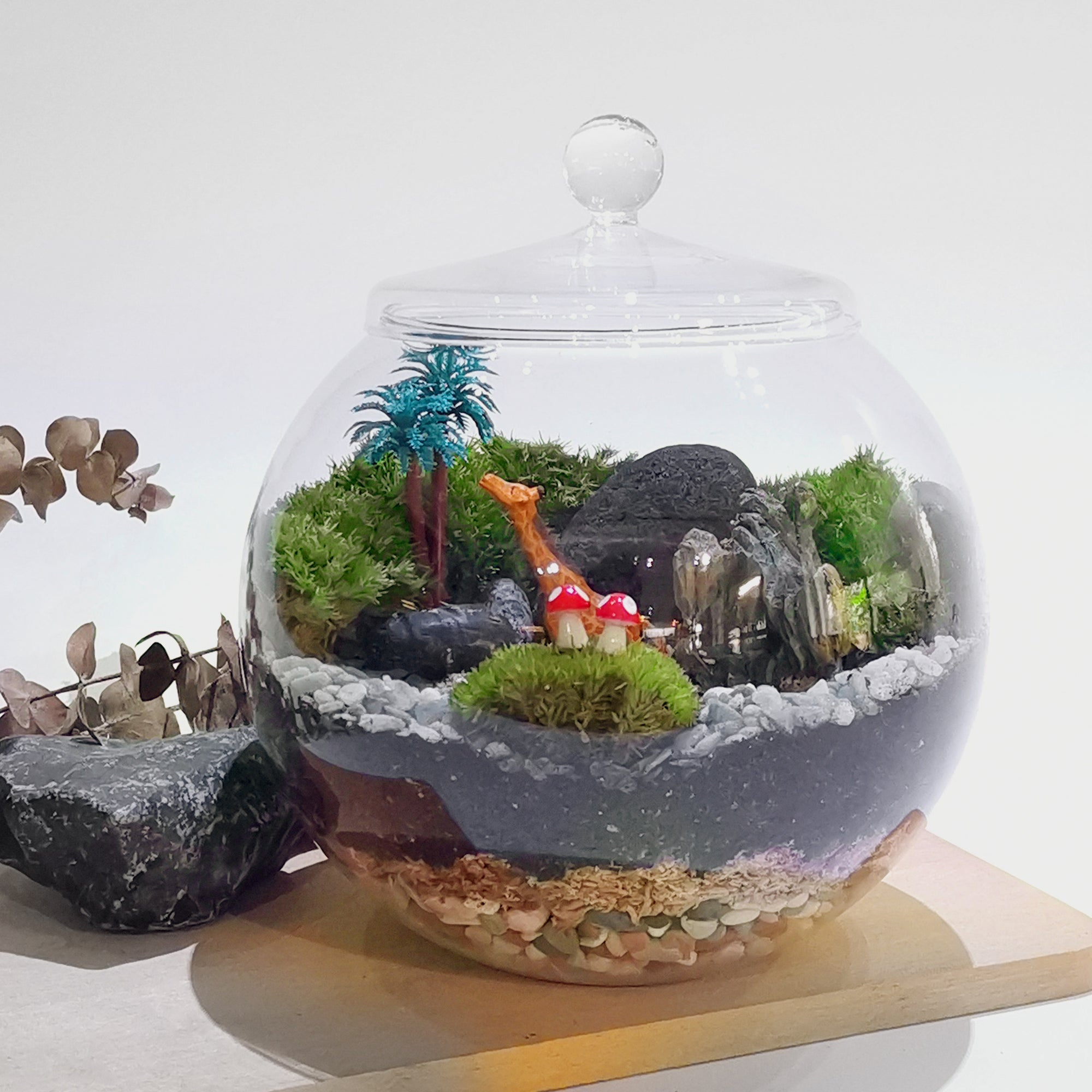 Moss Terrarium - Globe Closed Jar