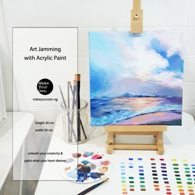 Corporate Art Jamming Workshop with Acrylic Paint Singapore