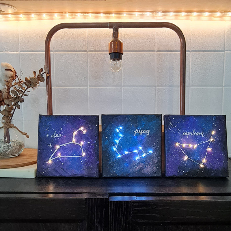 art jam corporate virtual workshop singapore guided constellation zodiac sign lights