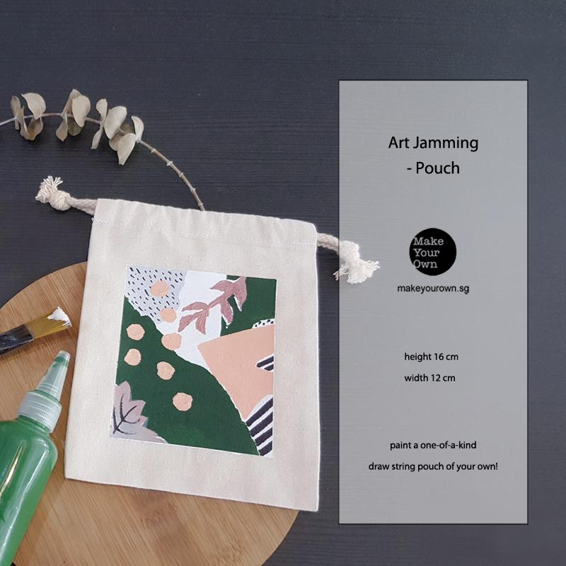 art jam canvas pouch corporate workshop singapore