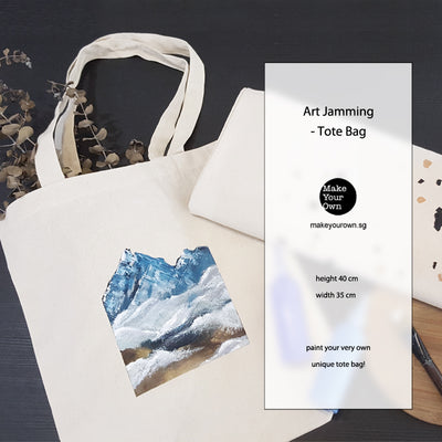 art jam canvas tote bag corporate workshop singapore