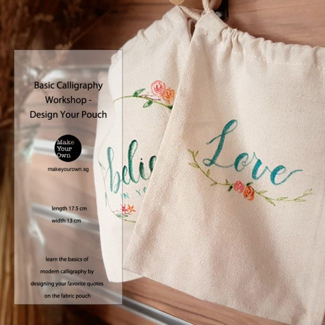 Corporate Basic Calligraphy Workshop Singapore Design Your Own Pouch