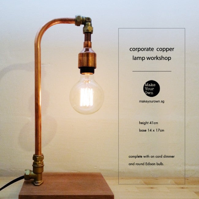 Corporate Copper Lamp Workshop Singapore