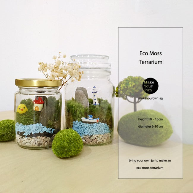 Corporate Eco Moss Terrarium Workshop Singapore