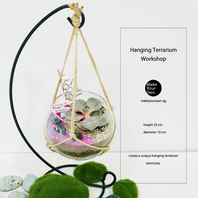 Corporate Hanging Terrarium Workshop Singapore