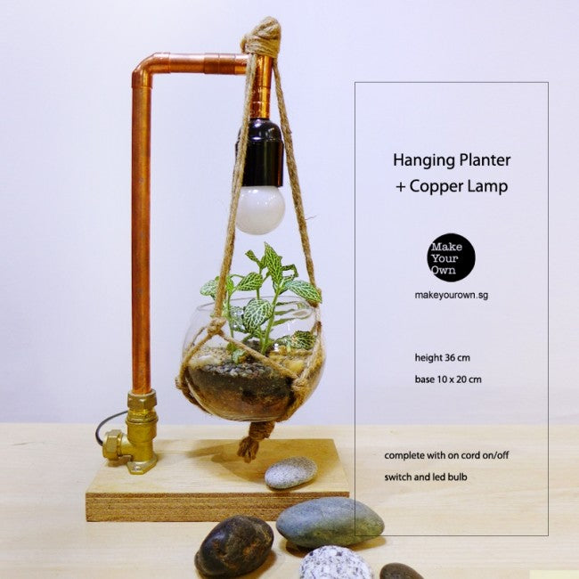 Corporate Hanging Planter Copper Lamp Workshop Singapore