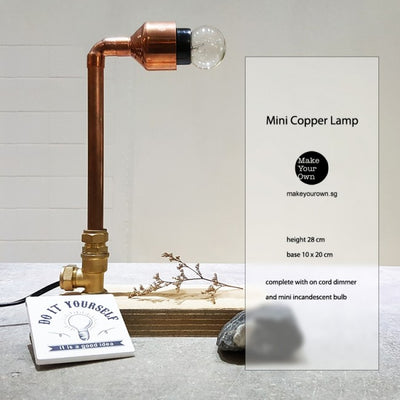 Corporate Mini Copper Lamp Workshop Singapore
