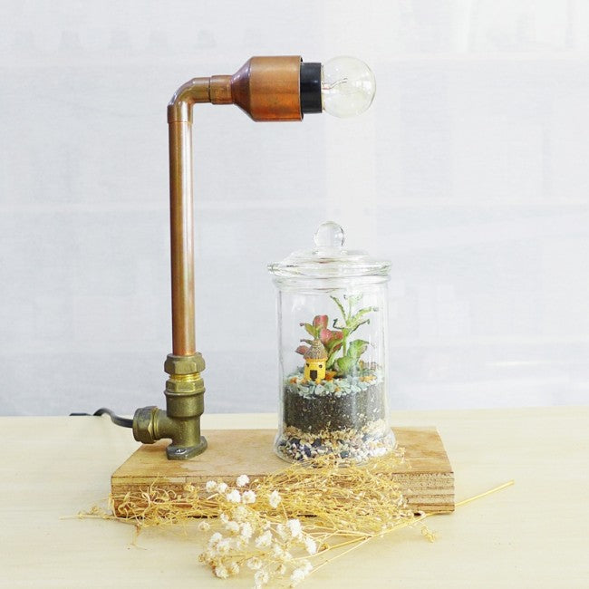 Corporate Mini Copper Lamp & Terrarium Workshop Singapore