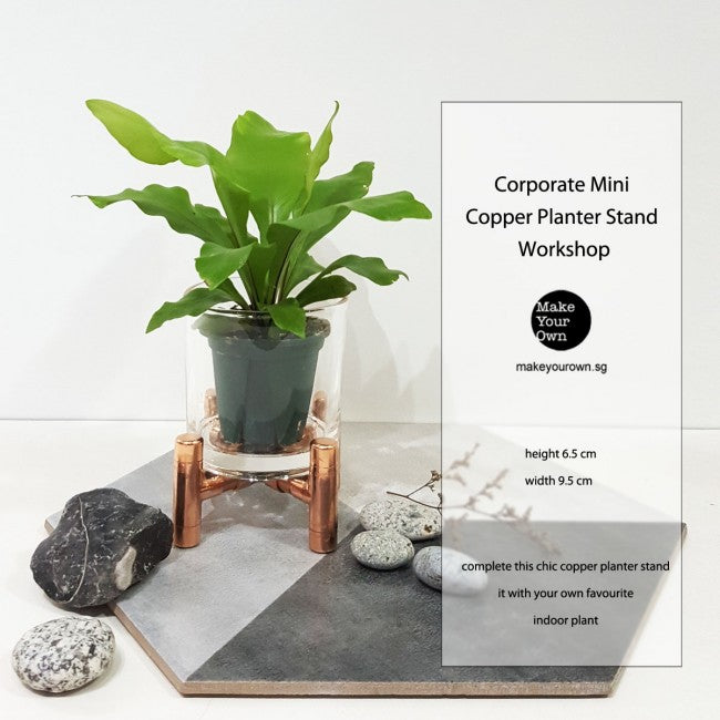 Corporate Mini Copper Planter Stand Workshop Singapore