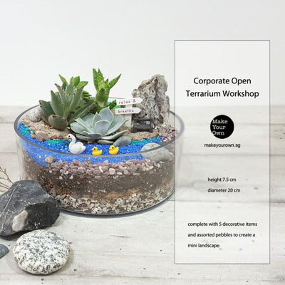 Corporate Terrarium Workshop Singapore - Open Terrarium Type C