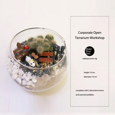 Corporate Terrarium Workshop Singapore - Open Terrarium Type A