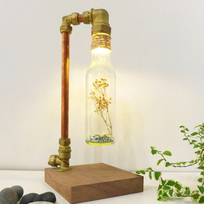 Recycled Glass Bottle Copper Lamp Workshop Singapore