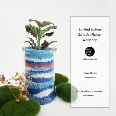 Corporate Sand Art Planter Workshop Singapore - Limited Edition