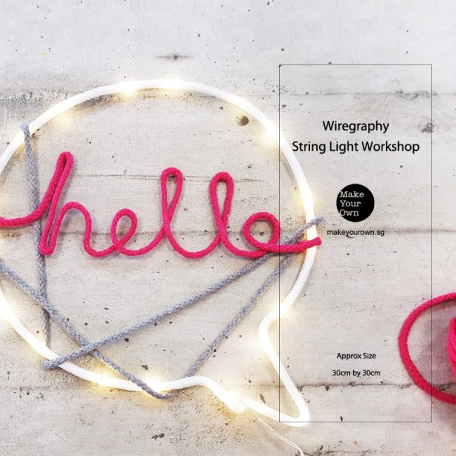 Corporate String Light Wiregraphy Workshop Singapore