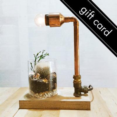 Terrarium + Mini Copper Lamp Workshop Gift Card