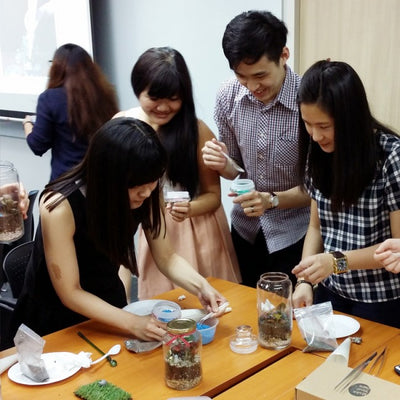 Corporate Eco Terrarium Workshop Singapore