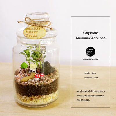 Corporate Terrarium Workshop Singapore - Closed Terrarium Type A