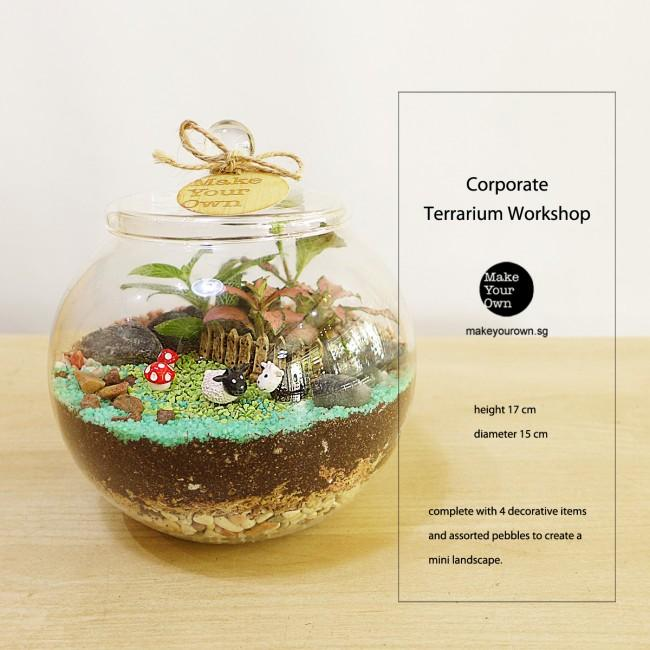Virtual Zoom Corporate Terrarium Workshop Singapore - Closed Terrarium Type B