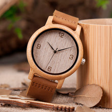 Load image into Gallery viewer, BOBO BIRD'S Women's Antique Bamboo Watch With Leather Strap - Wood Addiction