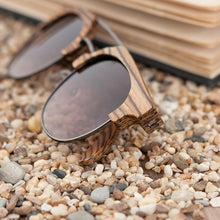 Load image into Gallery viewer, BOBO BIRD'S Men/Women's Vintage Polarized Wood Sunglasses