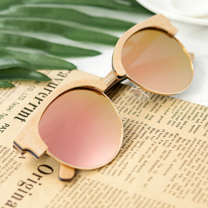 BOBO BIRD'S Men/Womens  Wooden Polarized Sunglasses