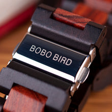 Load image into Gallery viewer, BOBO BIRD'S  Wooden Men's Mechanical Watch