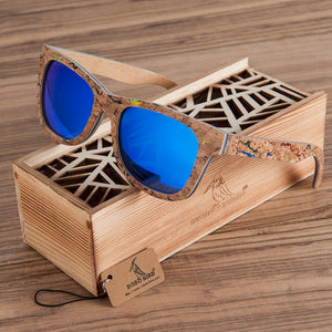 BOBO BIRD Mirror Wooden Sunglasses for Men/Women Polarized Colored Sunglasses