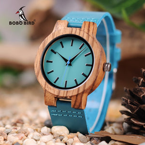 BOBO BIRD'S Wooden Antique Watch with Leather Band