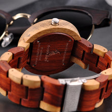 Load image into Gallery viewer, BOBO BIRD'S Wooden Men's Watch 2 Time Zones