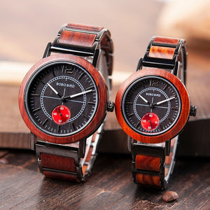 BOBO BIRD'S Mens and Womens matching Watches